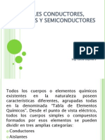 Materiales Conductores, Aislantes y Semiconductores