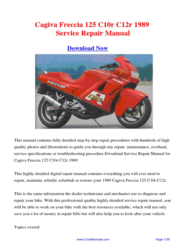 ... Array - 1989 cagiva freccia 125 c10r c12r service repair manual pdf rh  scribd ...