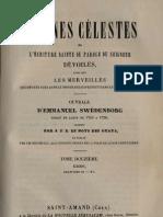 Em Swedenborg ARCANES CELESTES TomeDouzieme 1sur2 Exode IX XII Numeros 7488 8032 LeBoysDesGuays 1848 91