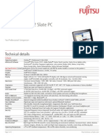 Fujitsu STYLISTIC-Q552-SLATE Tablet Computer Specs