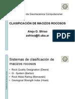 BOG - Clasificación de macizos rocosos