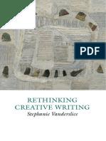 Creative Writing Studies Rethinking Creative Writing Programs
