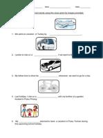 Transport-Test Items (Fill in Gaps)