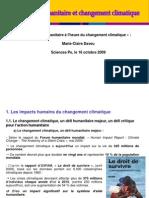 Action Humanitaire Et Changement Climatique_Marie Claire Daveu_16 Octobre 09