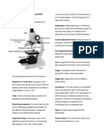 Parts of Microscope and their functions