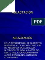 ABLACTACIÓN.