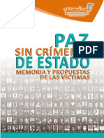 Paz sin crímenes de Estado