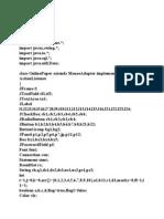 Programme Code