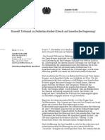 20111107 Russell Tribunal zu Palästina fordert Druck auf israelische Regierung!