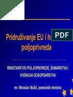 Pridruzivanje Eu i Hrvatska Poljoprivreda