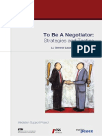 To Be a Negotiator - Strategies & Tactics (Sumbeiyo)