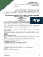 Regulamento - Concurso Defensoria Pública de Minas - 2014