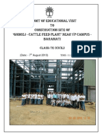 Visit to Godrej Cattle Feed Plant Construction Site on 7.8.13 for IECT