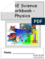 Physics Workbook 2011-2012