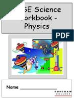 Physics Workbook 2011-2012