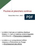 Poutres Et Planchers Continus