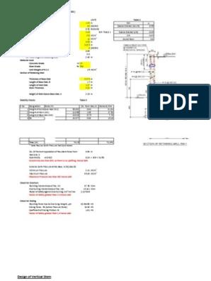 Retaining Wall Excel Sheet | Deep Foundation | Building
