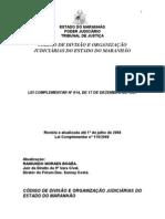 CÓDIGO DE DIVISÃO E ORGANIZAÇÃO JUDICIÁRIAS DO ESTADO DO MARANHÃO.doc