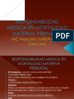 Responsabilidad Medica en Mortalidad Materna Perinatal