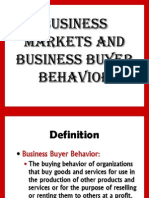 B-Business Markets and Business Buying Behaviour