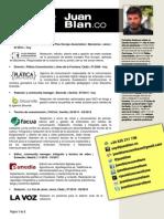 Currículum vítae del periodista Juan Blanco