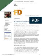 Back to Basics - Do Current Account Deficits Matter_ - Finance & Development - December 2006