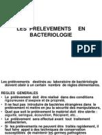 les prélèvement en bactériologie