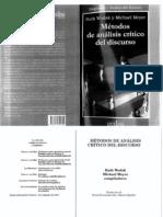 Wodak, R & Meyer, M - Métodos De Análisis Crítico Del Discurso