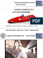 Aerodynamic analysis of a two-man Bobsleigh