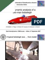 Aerodynamic analysis of a two-man Bobsleigh