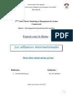 exposé alliances internationales word