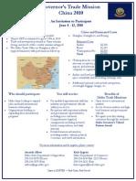 2010 Gov China Trade Mission Flier