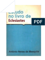 Antônio Neves de Mesquita - Estudo no livro de Eclesiastes