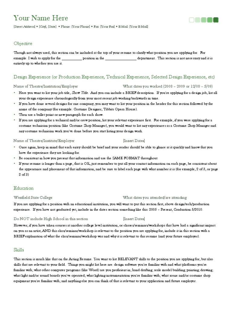 Sample Resume | Résumé | Technology