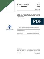 NTC 1087 Tuberias PVC