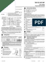 Thermostat Manual