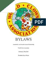 2013 World Clown Association Bylaws
