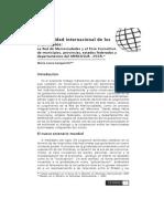 La Actividad Internacional de Los Municipios.mercociudades UNLP