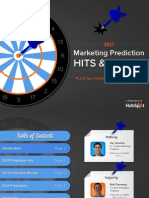 2013 Marketing Prediction Hits & Misses