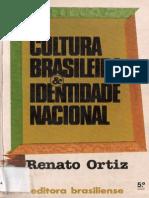 118260380 Cultura Brasileira Identidade Nacional Oritz