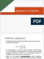Indicele Laspeyres vs Paasche