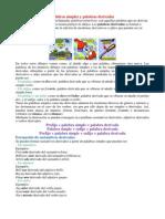 Lengua 02 Palabras Simples Derivadas Compuestas y Parasintc3a9ticas