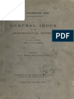 A General Index to the Archeological Report