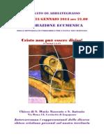 Locandina Per Celebrazione Ecumenica Del 23 Gennaio