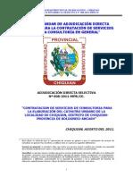 BASES ESTÁNDAR DE ADJUDICACIÓN DIRECTA