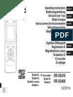 Panasonic RR XS410