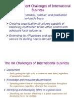 International Human Resourse Management Basics