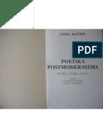 Linda Hačion - Poetika postmodernizma