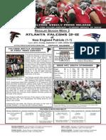 Atlanta Falcons vs. New England Patriots Week 3