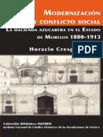 Modernización y conflicto social. La hacienda azucarera en el estado de Morelos, 1880-1913, Horacio Crespo